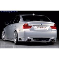 Накладка на бампер задний BMW E90 3-серия
